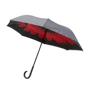 Parapluie honfleur rouge et noir en acier et polyester 659669
