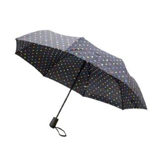 Parapluie lorient noir en acier et polyester 659671
