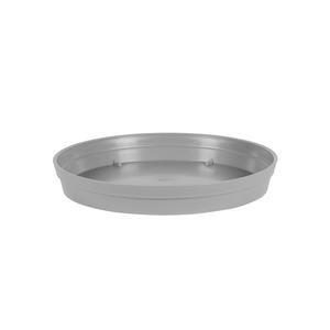 Soucoupe Toscane en polypropylène coloris gris béton Ø 18,5 x 3,6 cm 659720