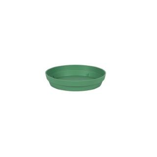 Soucoupe Toscane en polypropylène coloris vert jungle Ø 15 x 3 cm 659731