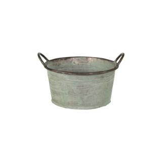 Bassine ronde en métal - Ø 35x17 cm 659917