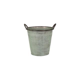 Seau rond en métal - Ø 20,5x21,5 cm 659920