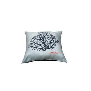 Coussin Déco Corail Blanc 50 x 50 cm 659948