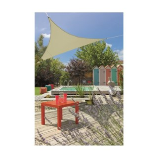 Voile ombrage ivoire 3,6 m triangulaire extensible 660059
