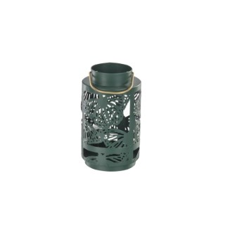 Lanterne en métal découpé Ø 9,4 x 16 cm 660218