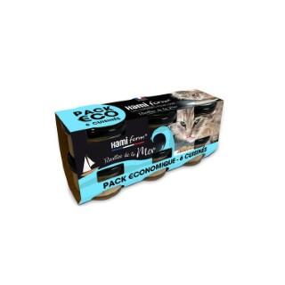 Cuisinés pour chat Recettes de la mer en pack de 6 bocaux 6 x 80 g 660222