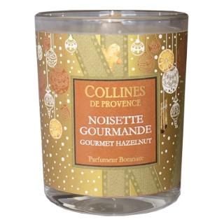 Bougie parfumée senteur noisette marron de 75 g 660310