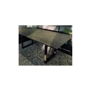Table pieds en U Stern en alu anthracite & HPL coloris ciment 200 x 100 cm 660791