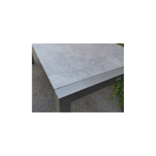 Table extensible Stern alu anthracite & HPL gris 214/254/294 x 100 cm 660809