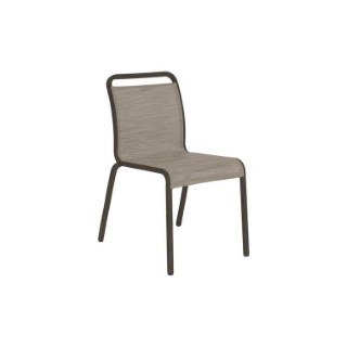 Chaise Oskar Stern en aluminium & textilène coloris taupe cachemire 660821