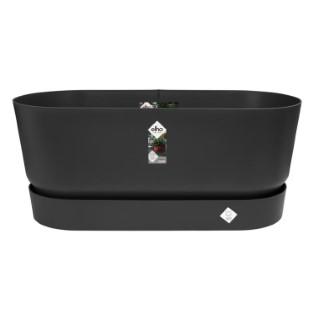Bac Greenville avec roues de 42 L coloris noir 78 x 36 x 33 cm