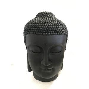 Statue de jardin tête de Bouddha – 17x16x28 cm 661401