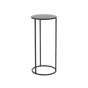Table de service Quinty noir Ø 22 x H 50 cm 661555