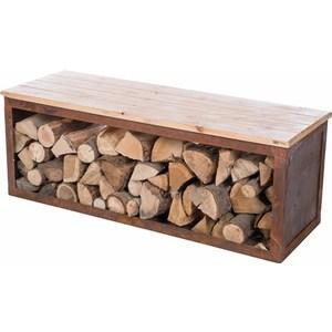 Banc stockage bois RedFire 120 cm 661573