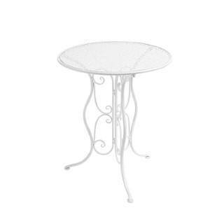 Ensemble table et 2 chaises pliantes en métal blanc 661992