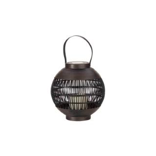 Lanterne solaire Como noire à LED blanc chaud Ø 22 cm x H 23 cm 662096