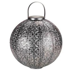 Lanterne solaire Jumbo Damasque argent à LED blanc Ø 30 H 32 cm 662098