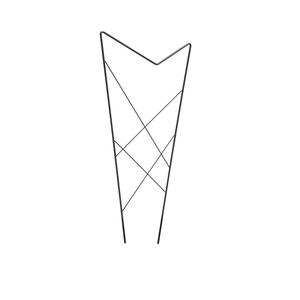 Treillis à piquer Papillon Fil de métal rond Gris 52,5x120 cm 662196