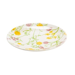 Assiette à dessert à motif fleurs multicolore Ø 22 x H 2 cm 662391