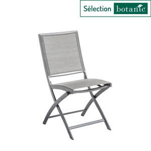 Chaise pliante Filao en aluminium et Batyline coloris beige 662571