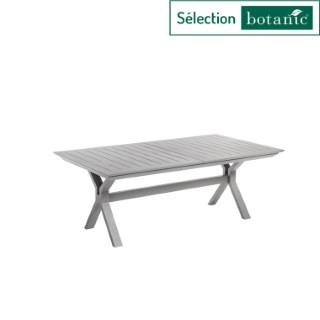 Table extensible Filao en aluminium coloris beige 160/240 x 100 cm 662573