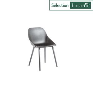 Chaise coque coloris noir en aluminium et polypropylène 57 x 49 x 82,5 cm