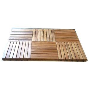 Caillebotis Acacia pack de 6 dalles / 0,54 m² dimensions 30 x 30 x 2,5 cm 662577