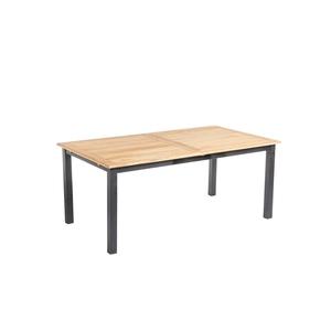 Table extensible en aluminium et teck naturel 180/240 x 100 x 75 cm 662580