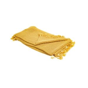 Plaid lino coloris jaune 130 x 170 cm 662712