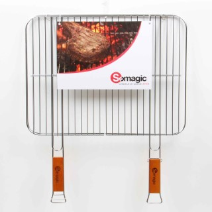 Grille Somagic double acier chromée 51 x 38 cm 662717