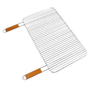 Grille simple Somagic en acier chromé avec manche en bambou 67 x 40 cm 662719