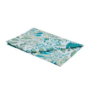 Chemin de table Campagne en coton imprimé bleu turquoise 50x150 cm 663093