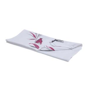 Chemin de table Charme en coton imprimé rouge 50x150 cm 663094