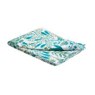 Nappe Campagne en coton imprimé bleu turquoise 150x300 cm 663126