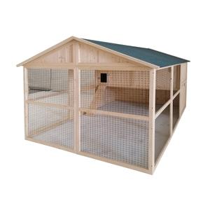 Poulailler Charlie de 5 m² en bois avec volière 663328