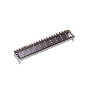 Mangeoire métallique pour poussins 50 x 7 x H 5 cm 663614