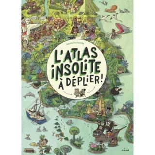 L'Atlas Insolite à Déplier Documentaire 6 à 10 ans Éditions Milan 663996