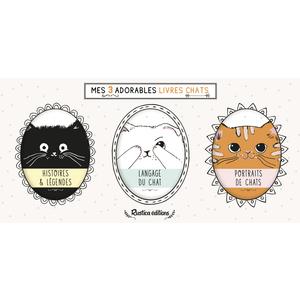 Mes Trois Adorables Livres Chats Beaux-livres Rustica 664514
