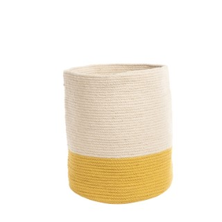 Corbeille Bicolore Ø 30 x H 40 cm jaune 665511