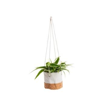 Pot à suspendre Darcia coloris blanc cassé Ø 13,5 x 12,5 cm 665609