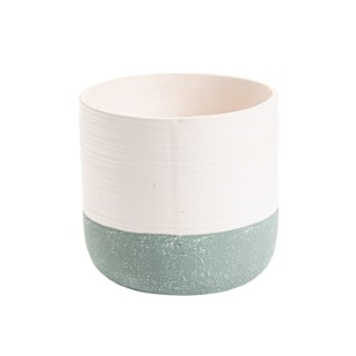 Cache-pot Bicolore mat Ø 13 x H 13 cm Céramique 665659
