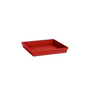Soucoupe Toscane carrée coloris rouge rubis 40 x 40 x 5,9 cm 667347