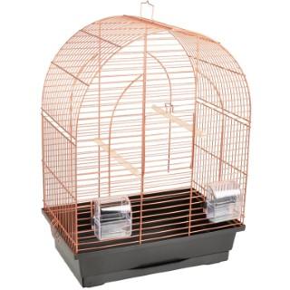 Cage à perruche klara 1 en cuivre L 39 x l 25 x H 53 cm 672006