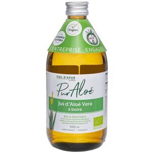 Jus à Boire Pur Aloé Bio 500 ml Bouteille en verre marron 674828