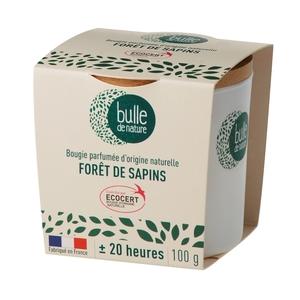 Bougie parfumée Forêt de sapins 100g bulle de nature