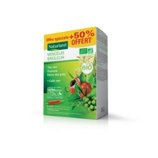 Minceur Brûleur thé vert- café vert- bouleau- reine des prés bio Boîte 20 x 10 ml vert 675180