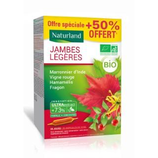 Jambes Légères marronnier d'Inde- hamamélis- vigne rouge bio Boîte 20 x 10 ml vert 675181