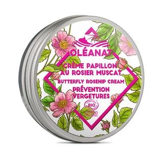 Crème Papillon au Rosier Muscat biologique Oleanat Pot 50 ml rose 676693