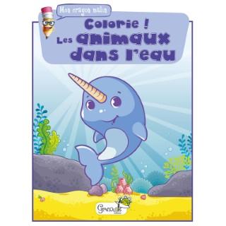Colorie ! Les animaux dans l'eau aux éditions Grenouille 677827