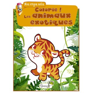 Colorie ! Les animaux exotiques aux éditions Grenouille 677828